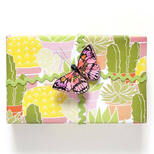 cactus wrapping paper sheet