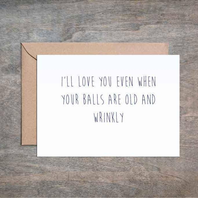Wrinkly Old Balls Birthday Card