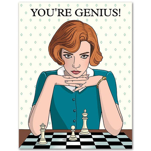 You're Genius Queen's Gambit Birthday Card