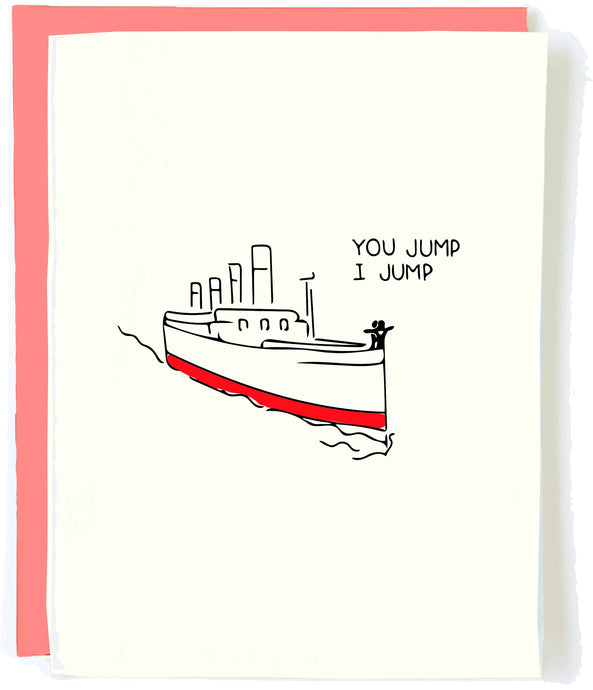 titanic you jump card