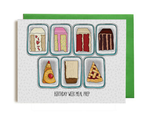meal prep birthday greeting card