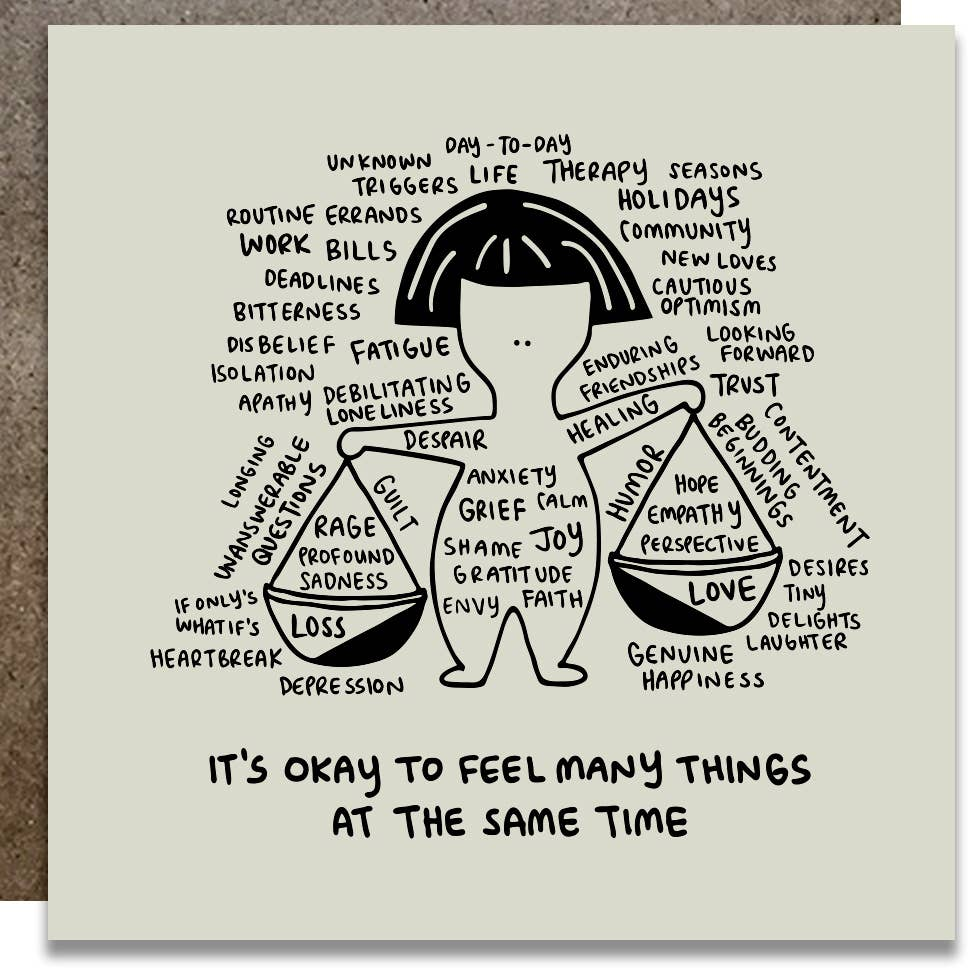 it's okay to feel many things at the same time card