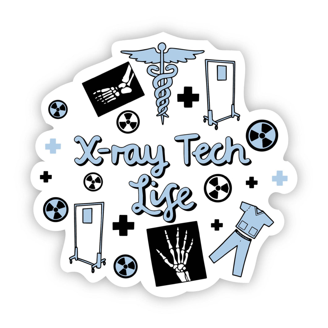 X-ray Tech Life Blue Sticker