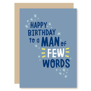 few words greeting card