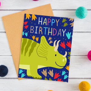 emily cromwell designs - dinosaur birthday card