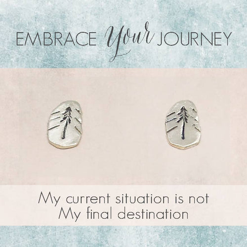 embrace your journey - tree studs