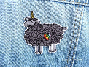 black sheep embroidered iron on patch