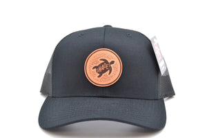 Leather Turtle Patch Hat