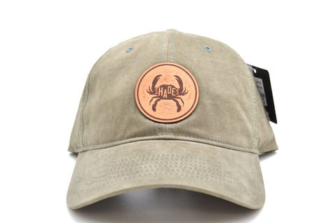 Leather Crab Patch Hat
