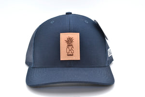 Charleston Pineapple Leather Patch Hat
