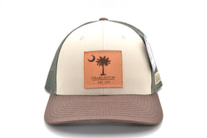 Charleston Palmetto Tree Leather Patch Hat