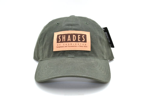 Shades Leather Patch Waxed Hat