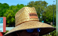 Load image into Gallery viewer, Shades Leather Patch Straw Hat