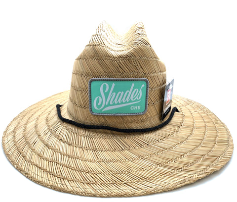 Shades Leather Patch Straw Hat