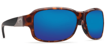 Load image into Gallery viewer, Costa Inlet Retro Tortoise with Black Temples Blue Mirror Lenses