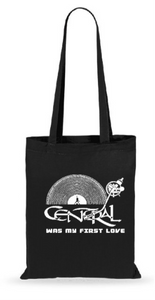 "Bolsa de viaje ""CENTRAL WAS MY FIRST LOVE"" negro"
