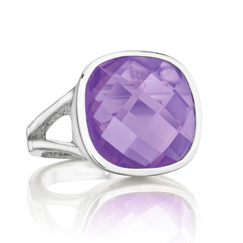 Silver Etoiles Amethyst Ring