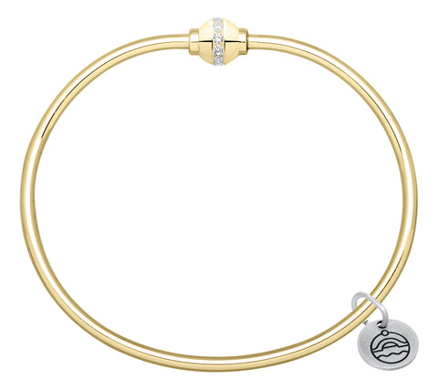 14k Gold & Diamond Cape Cod Bracelet