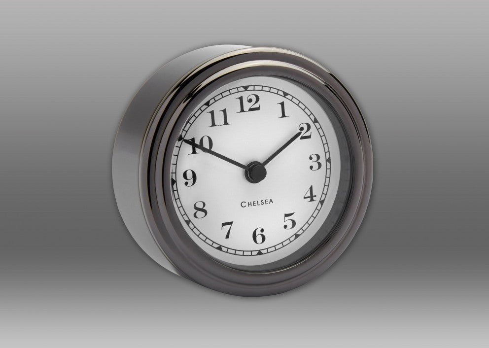 "Black Titanium ""Harwich"" Desk Clock"