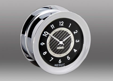 Nickel Carbon Fiber 12 Hour Clock