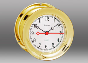 "Brass 4 1/2"" Shipstrike Quartz Clock"