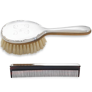 Georgia™ Pewter Girl's Brush & Comb Set