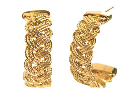 7mm Braid Hoop Earrings