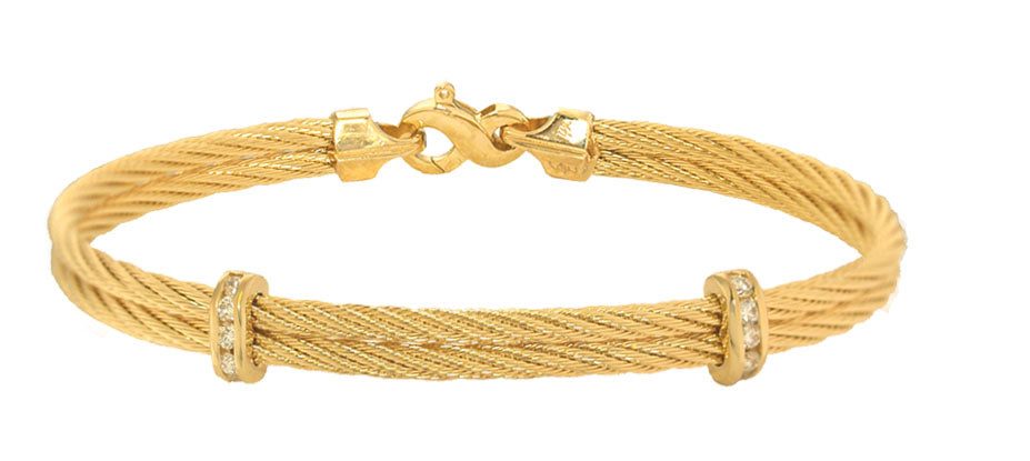 2mm Diamond Double Cable Bracelet