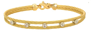 Diamond Double Cable Bracelet