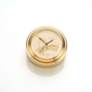"Brass ""Chatham Light"" Desk Clock"