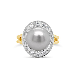 South Sea Pearl & Diamond Ring