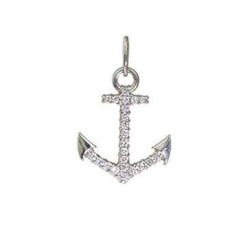 Diamond Anchor Charm