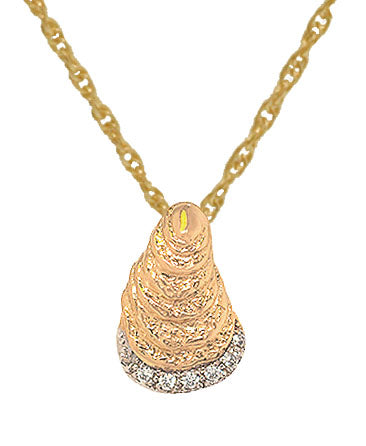 Medium Diamond Oyster Pendant