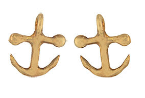 Gold Tiny Anchor Earrings
