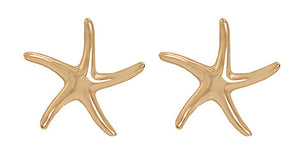 "Gold ""Dancing"" Starfish Earrings"