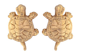 Gold Sea Turtle Earrings