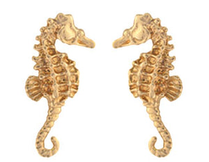 Gold Seahorse Earrings