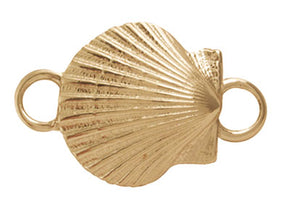 Gold Scallop Shell Bracelet Top
