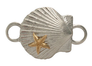 Scallop Shell with Starfish Bracelet Top