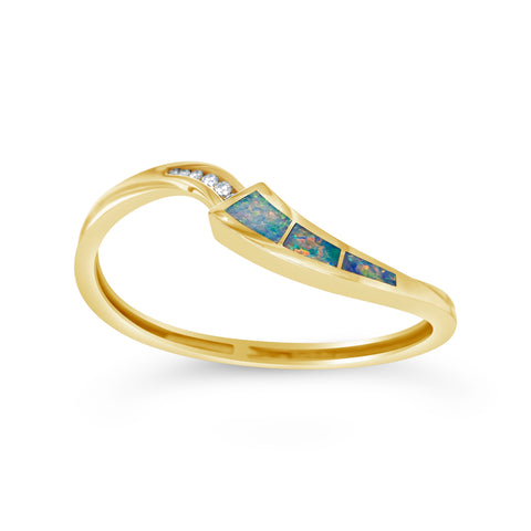 Opal & Diamond Hinged Bracelet