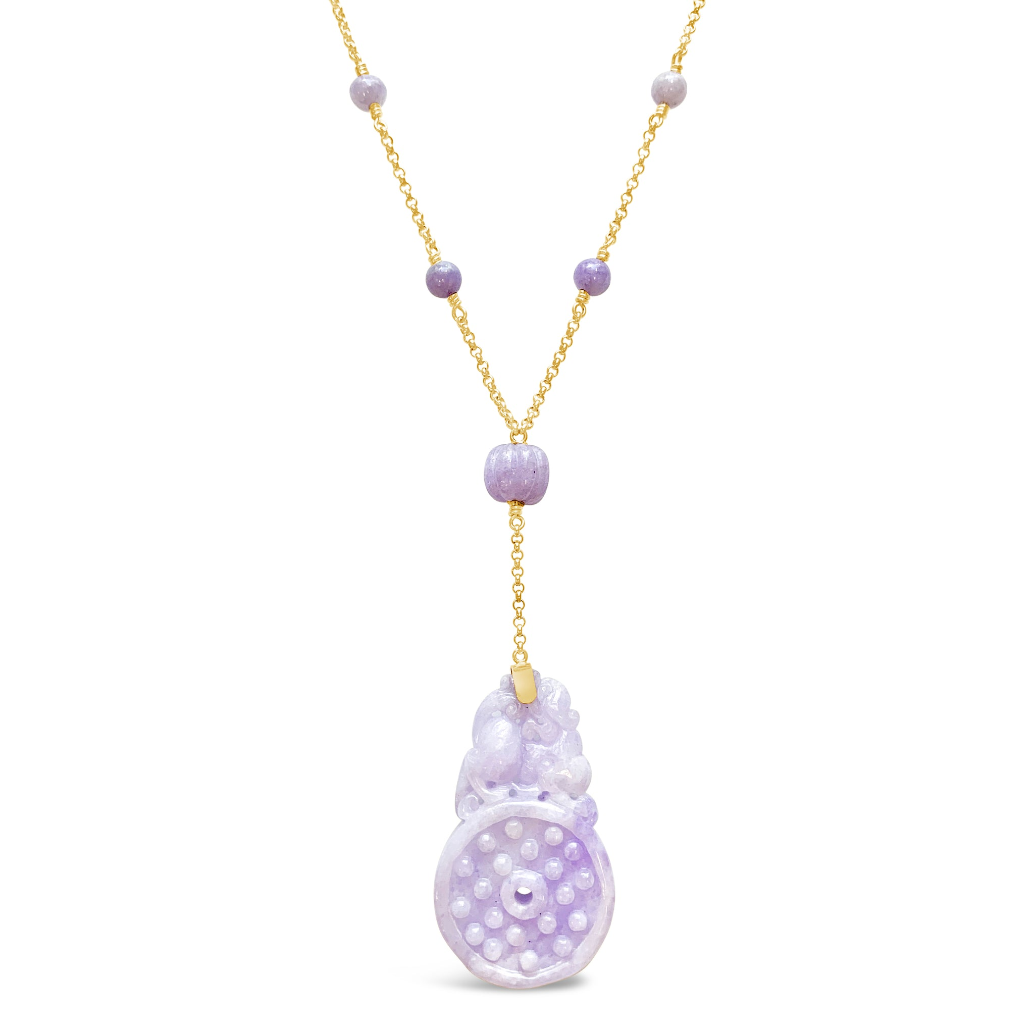Lavender Jadeite Necklace