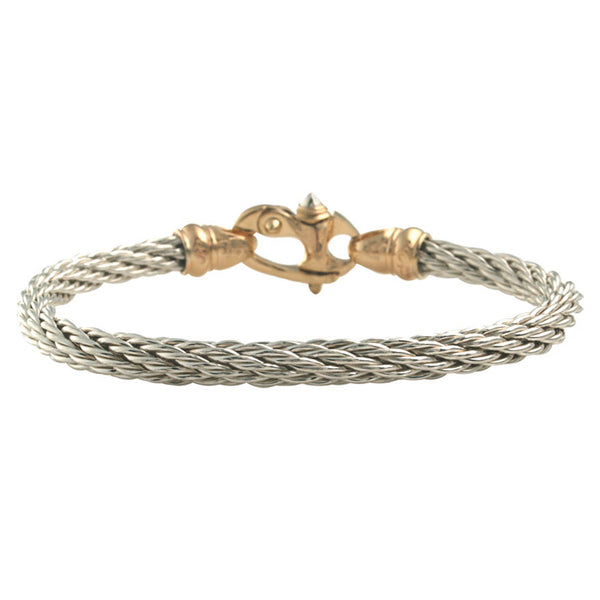 Silver & Gold Mariner Cable Bracelet