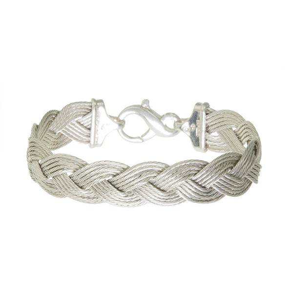 Silver 3-Cable Braid Bracelet