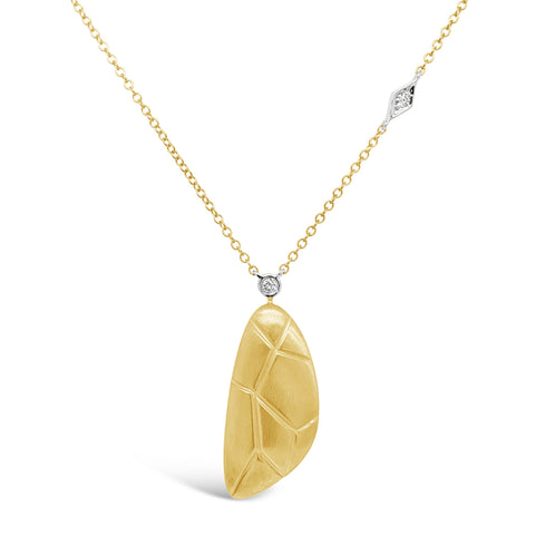 18k Yellow & White Gold Asymmetrical Necklace