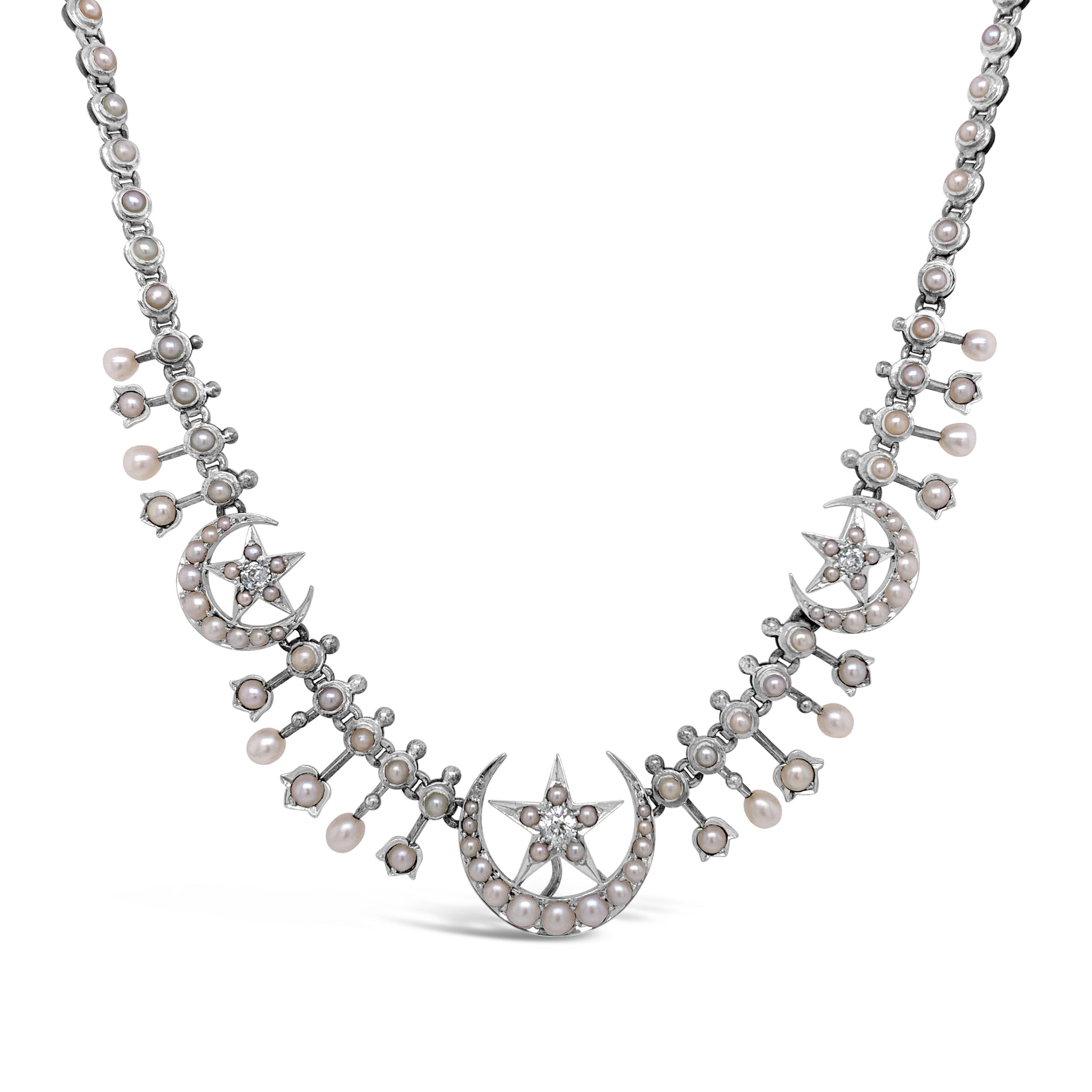 Antique Star-in-Crescent Necklace