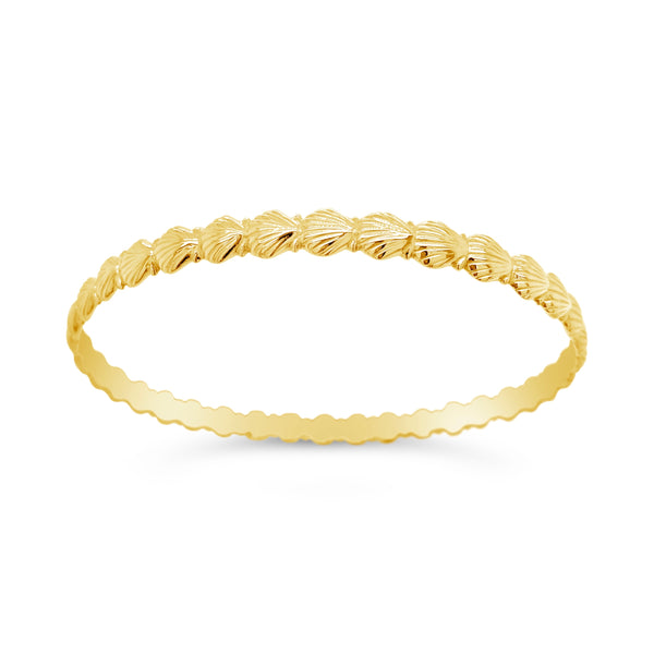 Scallop Shell Bangle Bracelet