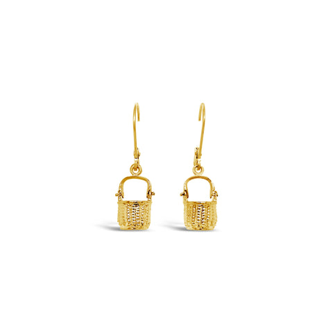 Nantucket Basket Leverback Earrings