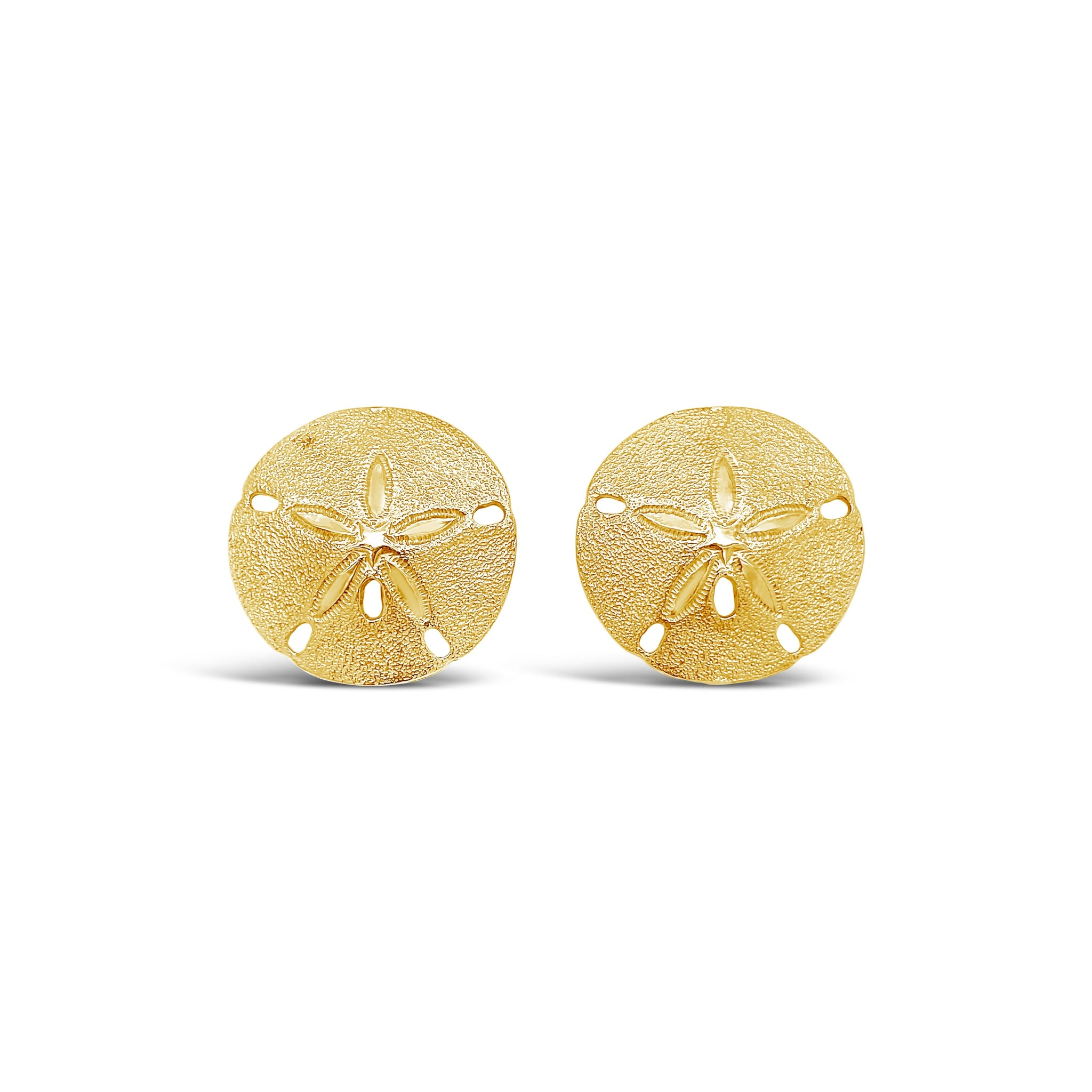 Large Sand Dollar Earrings