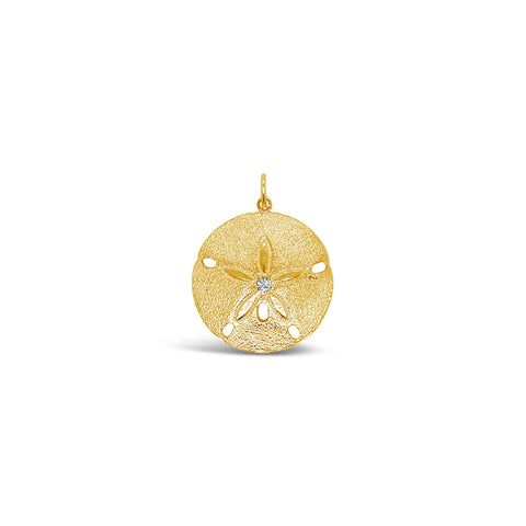 Diamond Sand Dollar Charm