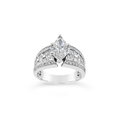 1.12 Carat Marquise Diamond Ring